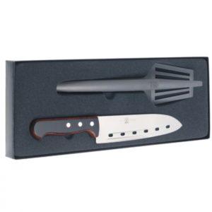 Stekesett med kokkekniv