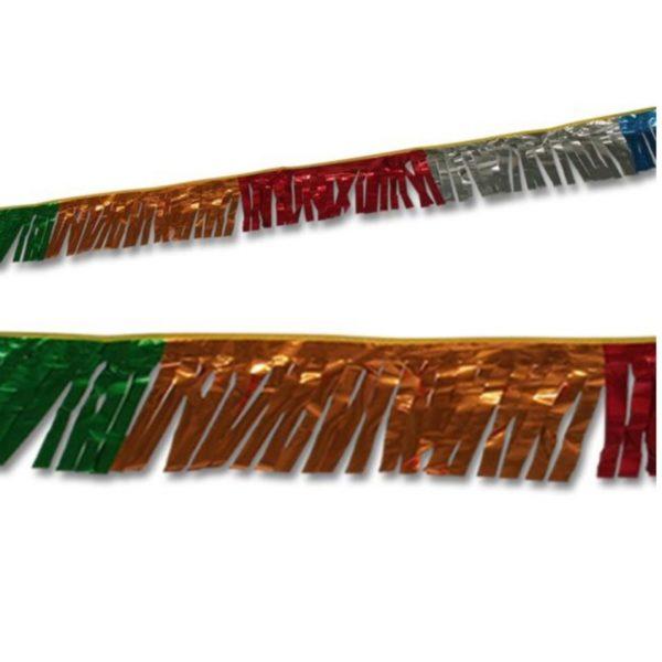 Metallic frynseline