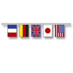 Internasjonal flaggline av stoff