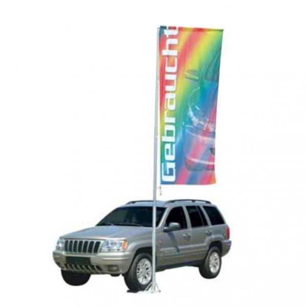 Mobil flaggstang av stål