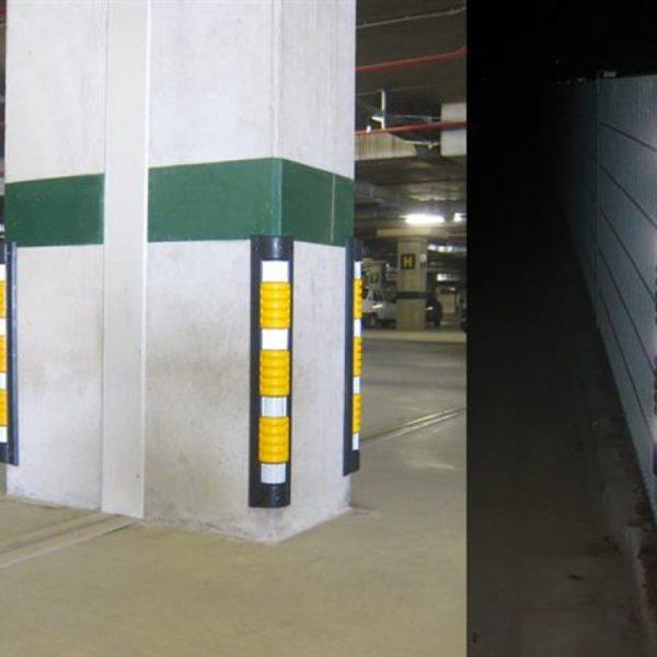 Kant- og støtbeskyttere for parkeringshus og garasje