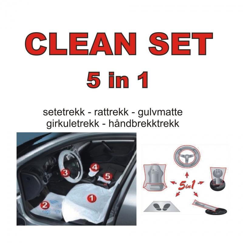 Clean set - 5 stk. beskyttelsesdeler i pose