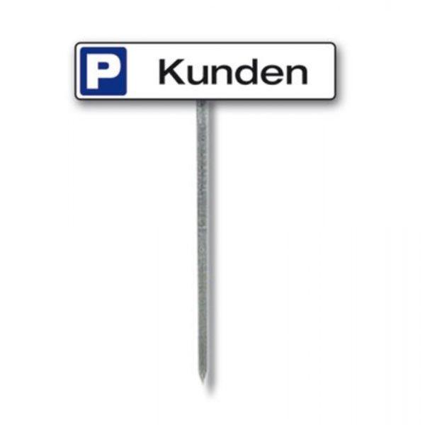 Parkeringsskilt med stolpe